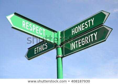 integrity on green arrow stock photo © tashatuvango