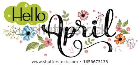 装飾的な フレーム カレンダー 春 背景 芸術 ストックフォト © itmuryn