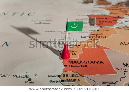 miniatuur · vlag · Mauritanië · geïsoleerd · business - stockfoto © bosphorus