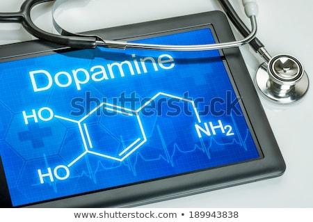 tabletta · vegyi · képlet · számítógép · orvos · egészség - stock fotó © zerbor