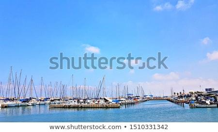 Jachthaven Israël stad resort middellandse zee Stockfoto © rglinsky77