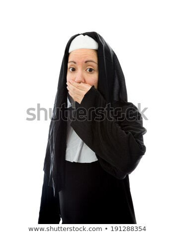 Young nun with hand over her mouth Stock photo © bmonteny