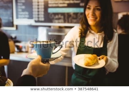 Camarera Servicio cliente café mujeres Foto stock © HighwayStarz