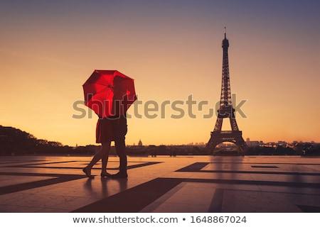 ロマンチックな · キス · パリ · 幸せ · 愛 - ストックフォト © adrenalina