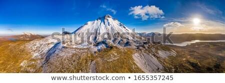 ストックフォト: 山 · アイルランド · 表示 · 黒白 · 空