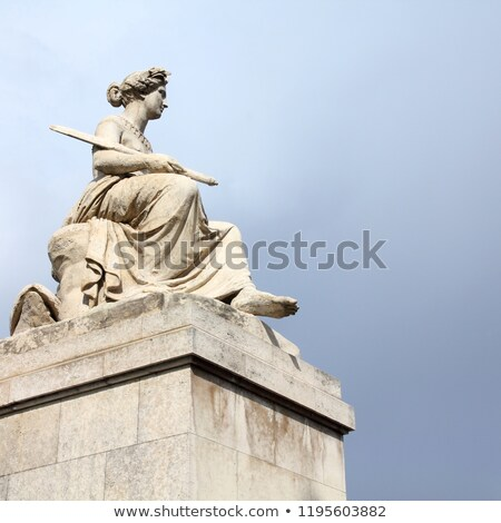 Statue on Pont du Carrousel in Paris Stock photo © chrisdorney