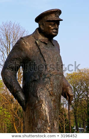 Sir Winston Churchill Statue in Paris Stock photo © chrisdorney