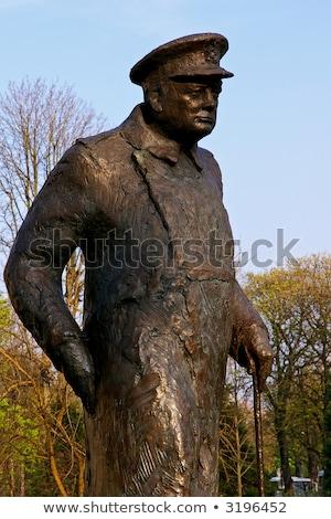 статуя Париж британский министр за пределами Франция Сток-фото © chrisdorney