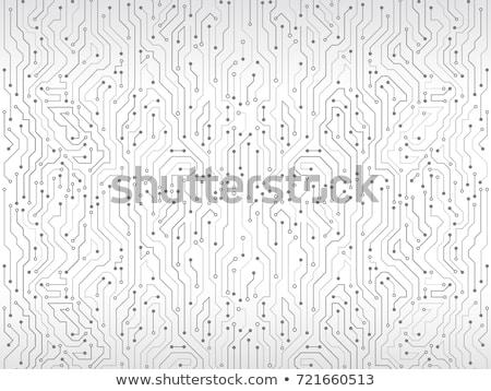 Nyáklap technológia zöld kártya fehér fehér háttér Stock fotó © gemenacom