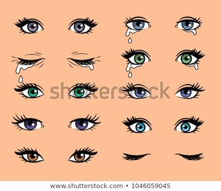 Vektor nő szem lány modell egészség Stock fotó © lindwa