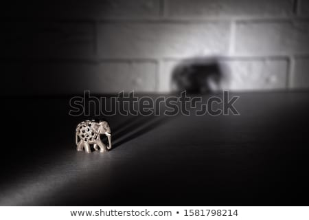 Wooden hand made carved elephant  Stock photo © nalinratphi
