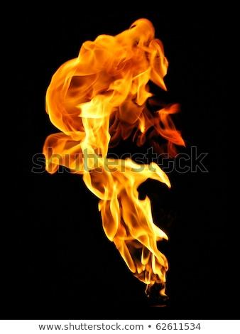 Tocha chamas noite fogo chama religião Foto stock © meinzahn