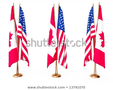EU and Canada - Miniature Flags. Stock photo © tashatuvango