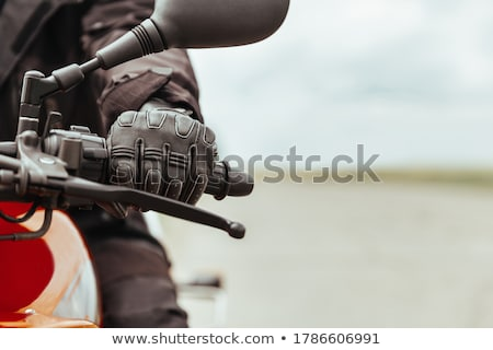 Guanti bicicletta sport bianco shell Foto d'archivio © FOKA