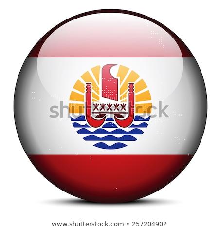 Térkép pont minta zászló gomb francia Stock fotó © Istanbul2009