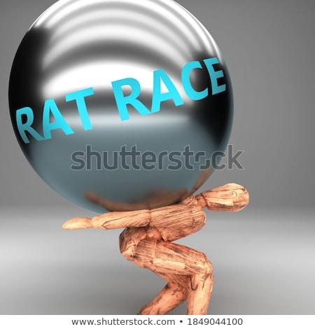 Patkány verseny férfi fáradt munka munkás Stock fotó © wime