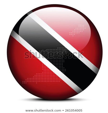 map with dot pattern on flag button of republic trinidad and to stock photo © istanbul2009