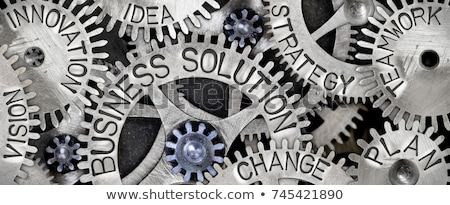 Estrategia de negocios metal artes mecanismo empresarial comercialización Foto stock © tashatuvango