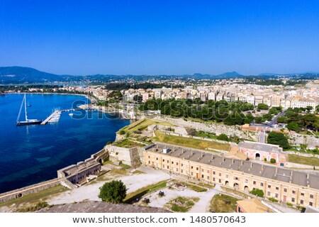 Ville île Grèce vue mer regarder Photo stock © Relu1907