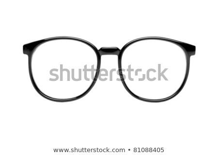 фото черный NERD очки изолированный белый Сток-фото © ozaiachin