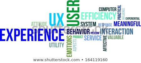 word cloud - user experience Stock photo © master_art