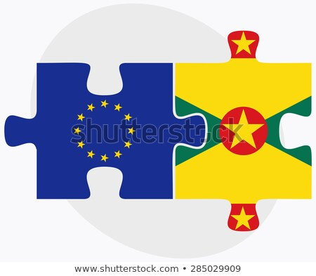 european union and grenada flags in puzzle isolated on white bac stock photo © istanbul2009
