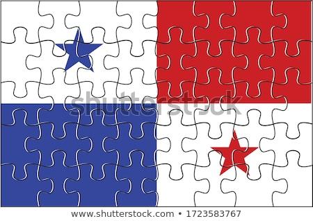 Europese unie Panama vlaggen puzzel geïsoleerd Stockfoto © Istanbul2009