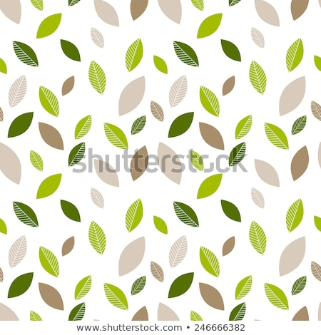 Seamless stylized green leaves pattern stock photo © aliaksandra
