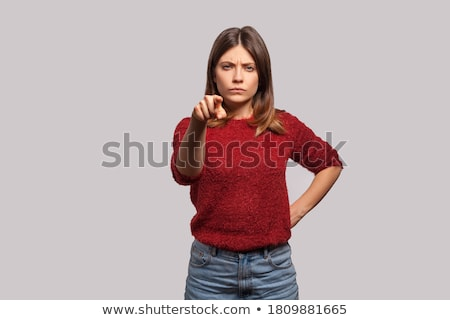 frustré · agacé · femme · cheveux · sur · colère - photo stock © wavebreak_media