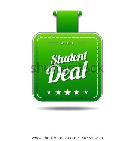 Student deal groene vector icon ontwerp Stockfoto © rizwanali3d