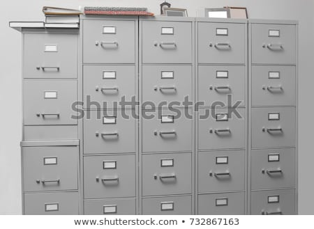 A drawer cabinet with the label Contracts Stock photo © Zerbor
