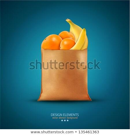 Orange Früchte Essen Maßstab isoliert medizinischen home Stock foto © fuzzbones0