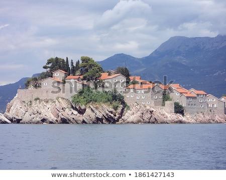 島 · モンテネグロ · 海 · 水 · 建物 · 夏 - ストックフォト © master1305