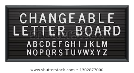 letters on board Stock photo © get4net