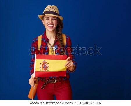 Spain flag on shirt Stock photo © fuzzbones0