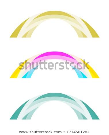 Medios tonos azul claro verde lila blanco amarillo Foto stock © ESSL