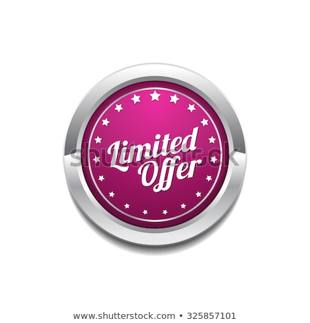 Limited Time Offer Pink Vector Button Icon Stock photo © rizwanali3d