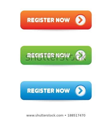 Register Now Blue Vector Icon Design Stock photo © rizwanali3d