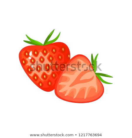 Morango vetor desenho animado vermelho maduro comida Foto stock © Suljo