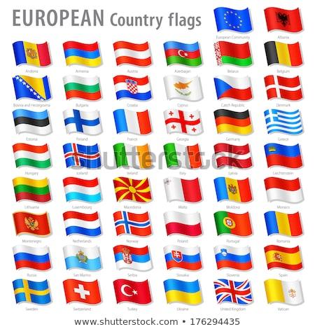 Francia Liechtenstein bandiere puzzle isolato bianco Foto d'archivio © Istanbul2009