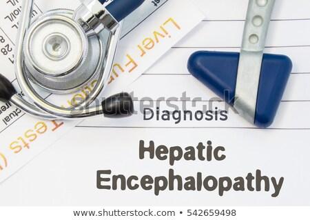 impresso · diagnóstico · médico · laranja · estetoscópio · pílulas - foto stock © tashatuvango