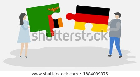 Germany and Zambia Flags in puzzle Stock photo © Istanbul2009