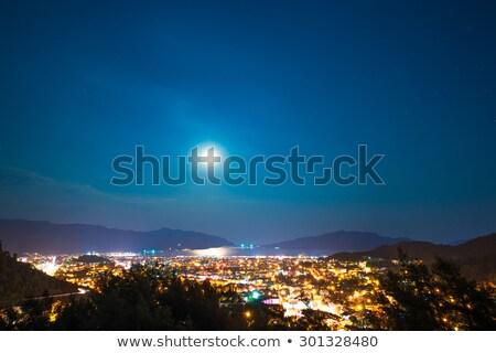 hold · fény · sötét · víz · tájkép · háttér - stock fotó © vapi