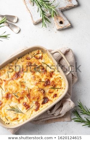 gebakken · aardappel · hot · gekruld · spek · geraspte · kaas - stockfoto © digifoodstock