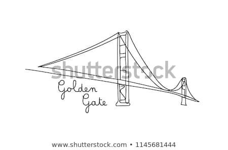 Drawing A Bridge Stock photo © Lightsource
