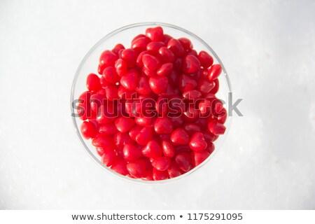Tarçın şeker kalpler baharatlı kırmızı sıcak Stok fotoğraf © fotogal