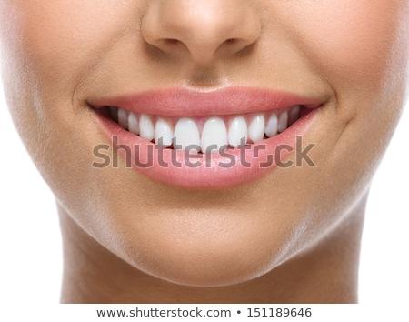 close-up of beautiful woman lips isolated Stock photo © stryjek