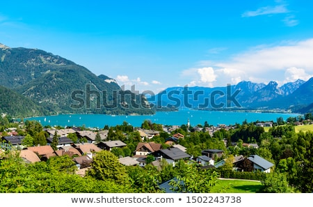 風景 アルプス山脈 水 自然 雪 山 ストックフォト © meinzahn