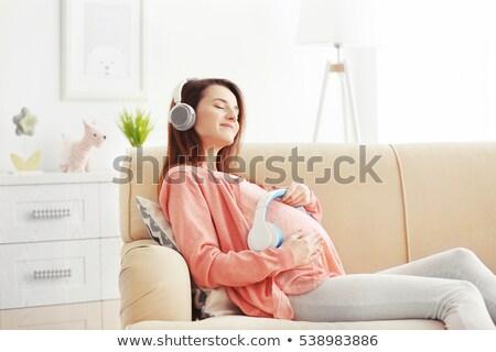Gravidanza musica prenatale feto grembo madre Foto d'archivio © Lightsource