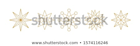 Noel Yıldız model altın doku altın noktalar Stok fotoğraf © kjpargeter